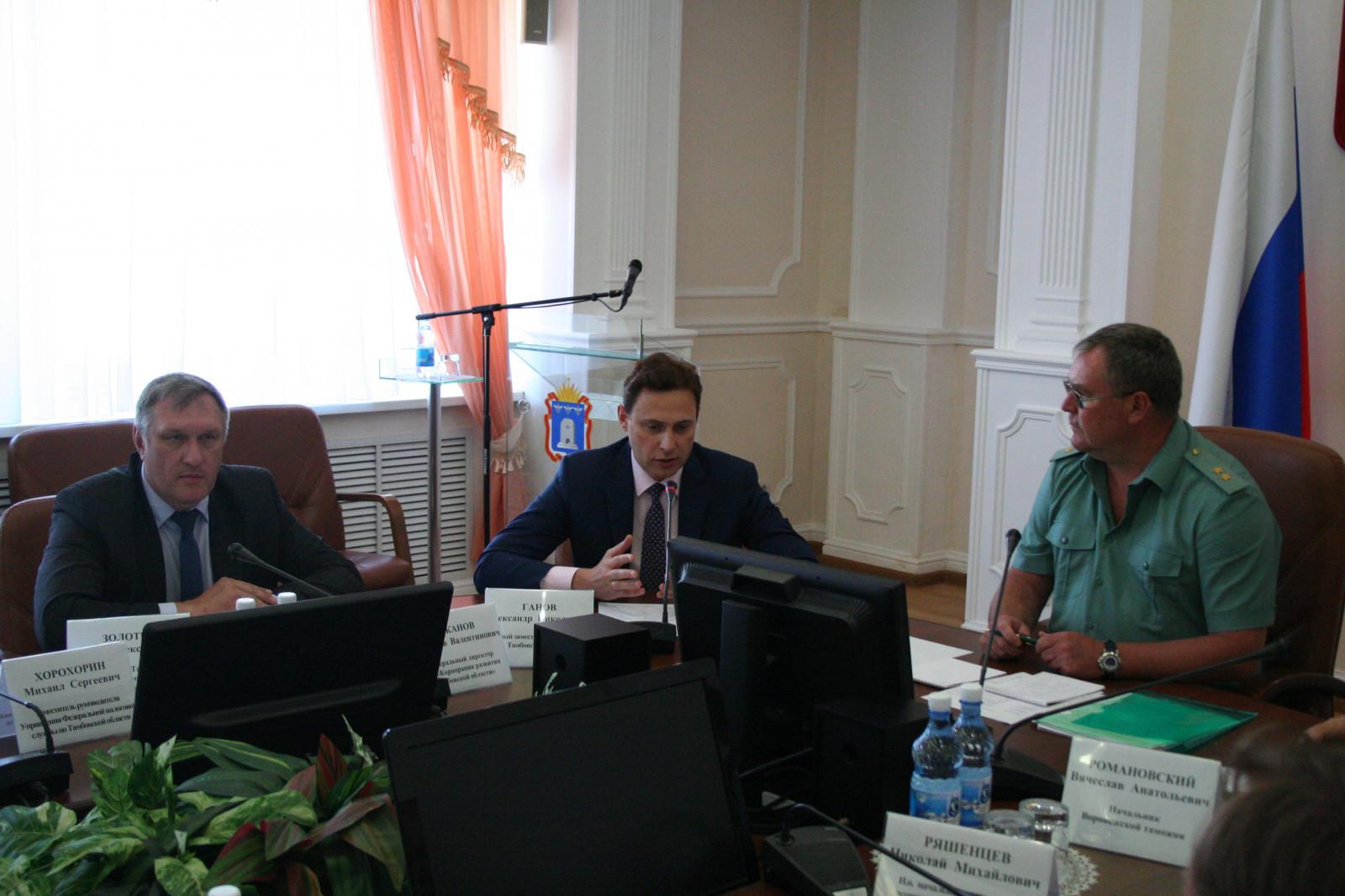 Региональные власти, тамбовские производители и представители таможни обсудили вопросы взаимодействия