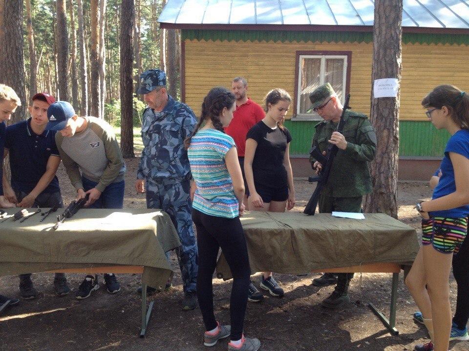 В лагере «Сосновый бор» проходит военно-спортивная игра «Казачий сполох»