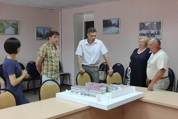 В Уварово презентовали макет будущего здания кадетского корпуса