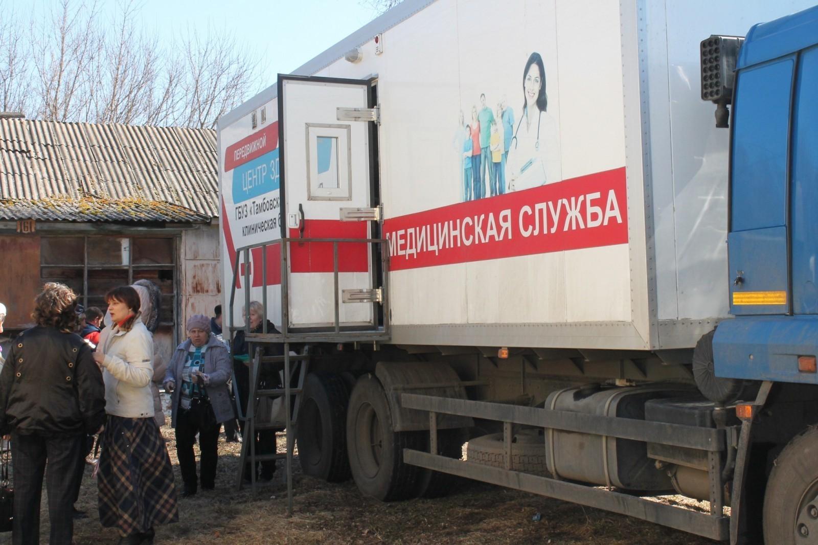 Врачи социального автопоезда «Забота» осмотрели почти 200 человек в Кирсановском районе