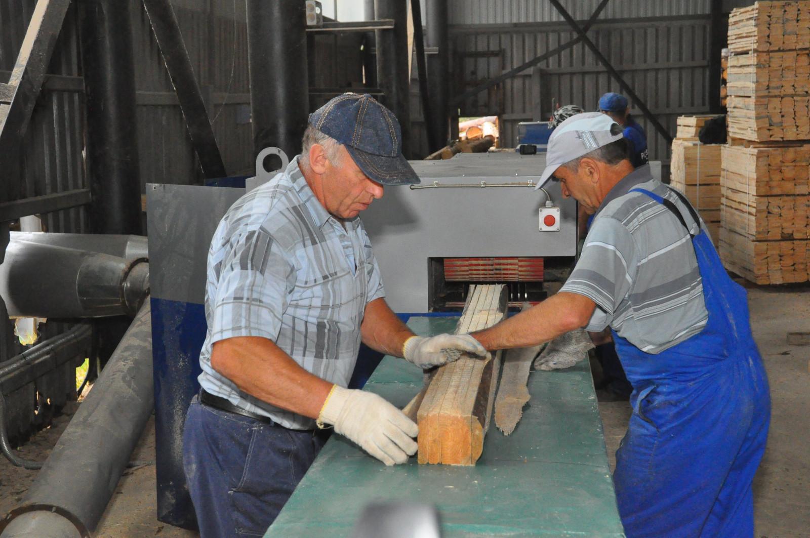 В Рассказовском лесхозе установлено новое оборудование по переработке древесины