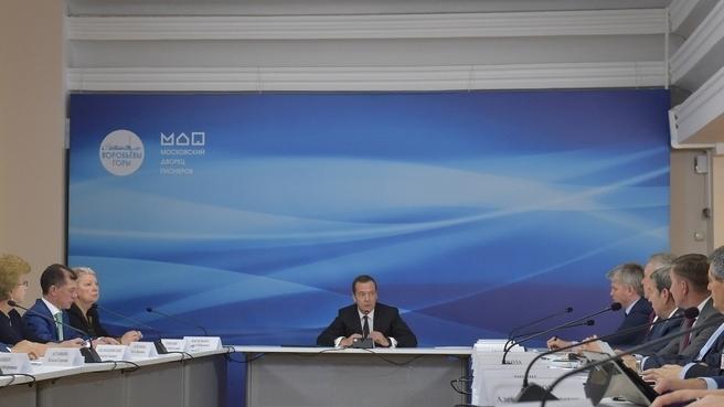 Вице-губернатор Наталья Астафьева рассказала премьер-министру РФ Дмитрию Медведеву о развитии системы дополнительного образования детей на Тамбовщине