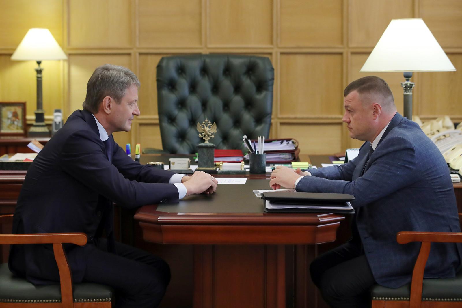 Александр Ткачев провел рабочую встречу с главой администрации Тамбовской области Александром Никитиным