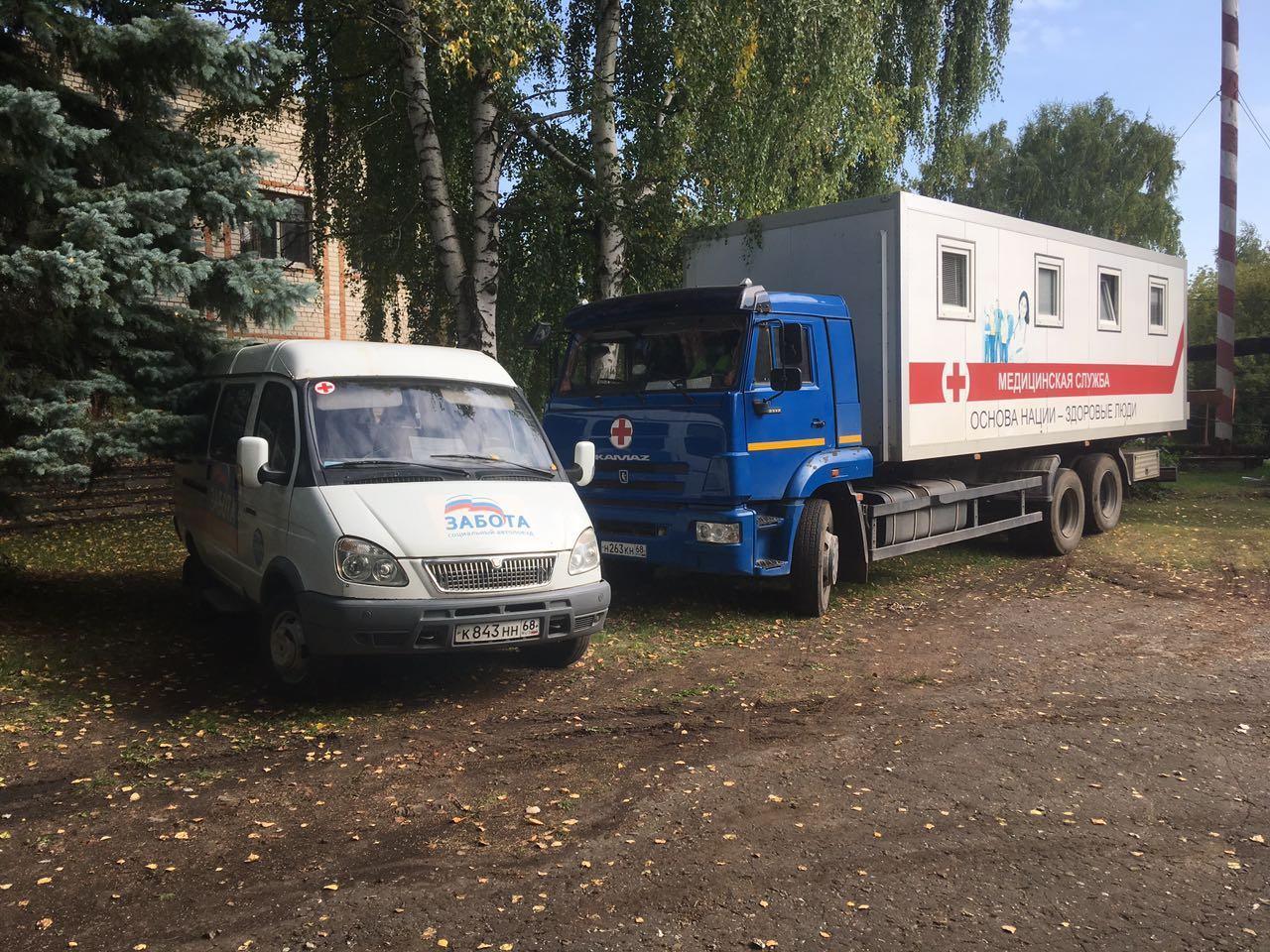 Социальный автопоезд «Забота» сделал первый выезд после летнего перерыва