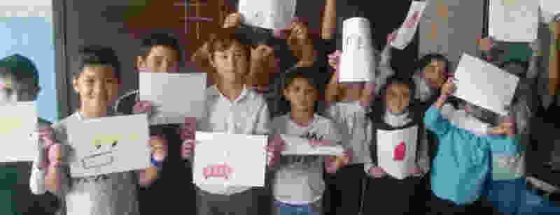 Обучающиеся филиала МБОУ «Цнинская СОШ №1» в поселке Калинин Тамбовской области приняли участие во Всероссийском фестивале #ВместеЯрче