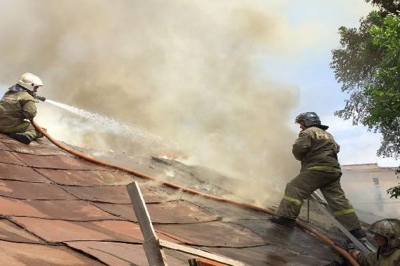 На улице Кавалерийской в Тамбове случился пожар