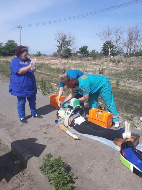 В Мичуринском районе прошли учения по ликвидации последствий ДТП