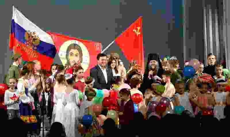 В Тамбовской области под флагами России и СССР прошёл детский Пасхальный фестиваль