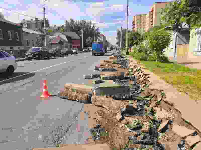 В центре Тамбова начался ремонт дорог