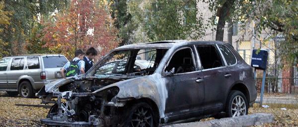 Вюжной части Тамбова сгорели двадорогостоящих автомобиля