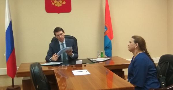 Представитель президента РФвЦФОИгорь Щёголев провел личный прием граждан вТамбове