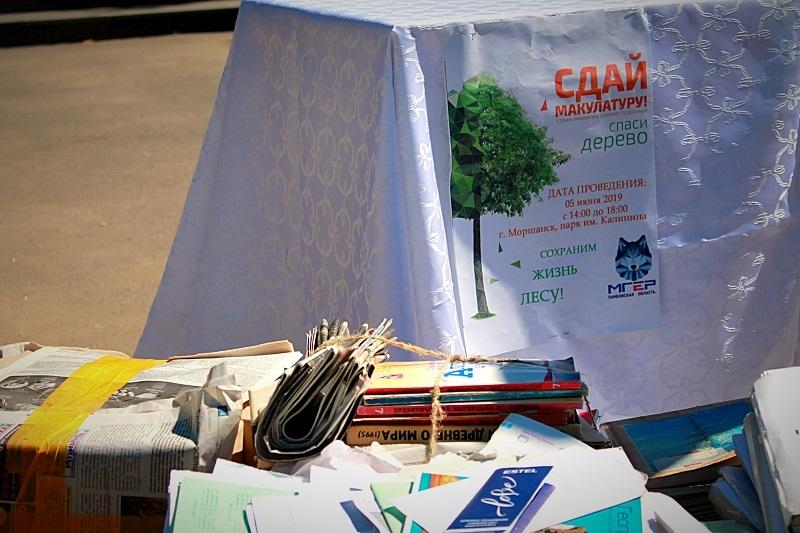 """В Моршанске во время акции """"СпасиДерево"""" собрали 420 килограммов макулатуры"""