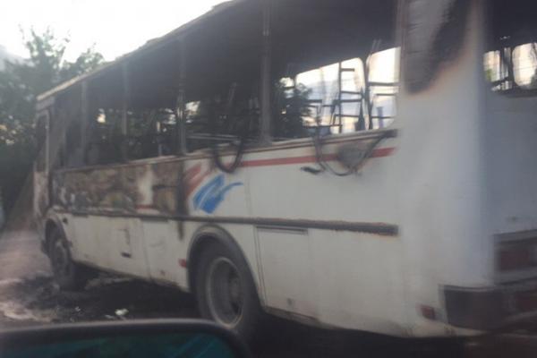 Кирсановский автобус сгорел до тла