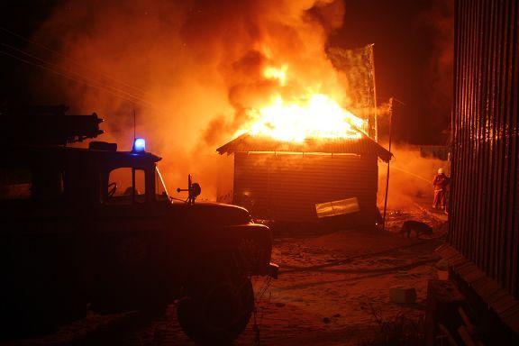 В Мичуринском районе в вагончике сгорел 34-летний мужчина