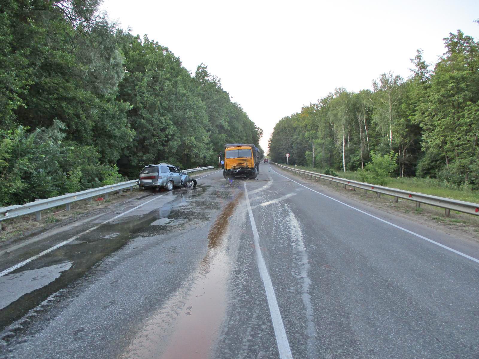 В Сосновском районе ВАЗ выехал навстречку и протаранил грузовик: есть погибший