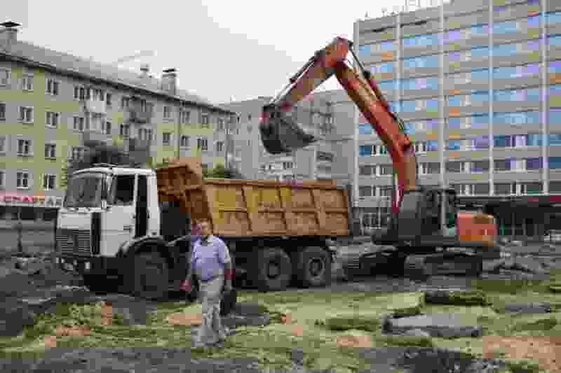 В Тамбове начался второй этап благоустройства сквера на площади Льва Толстого