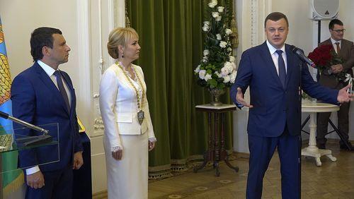 Губернатор Тамбовской области Александр Никитин поздравил Наталию Макаревич с вступлением в должность главы города Тамбова