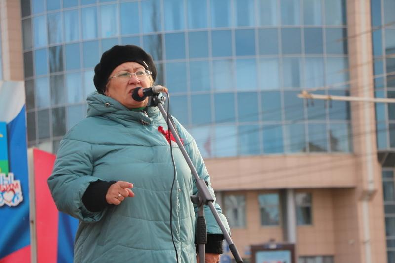 На митинге в честь 7 ноября говорили о будущем полигоне в Сосновском районе
