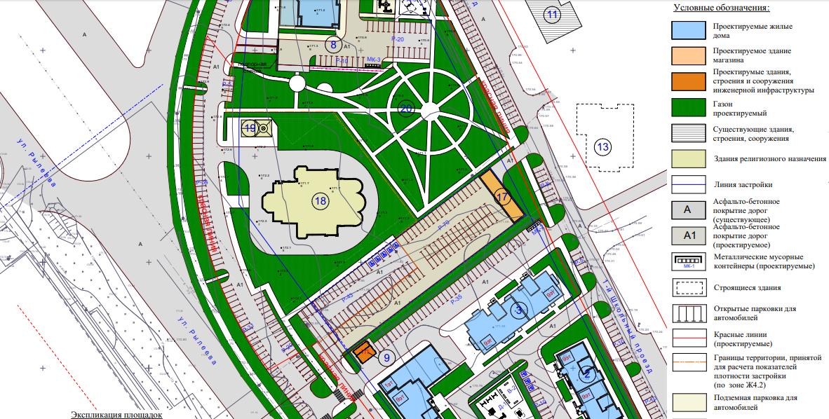 На севере Тамбова построят новый жилой комплекс из нескольких девятиэтажек, с двухэтажным магазином и церковью на 500 прихожан