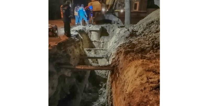 На юге Тамбова восстановили подачу тепла и устранили последствия аварии на сетях холодного водоснабжения