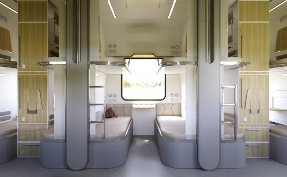 Россиянам представили проекты новых плацкартных вагонов