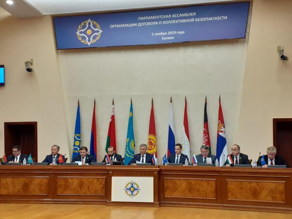 В Армении с участием тамбовских представителей прошло заседание Совета Парламентской ассамблеи организации договора о коллективной безопасности под председательством Вячеслава Володина