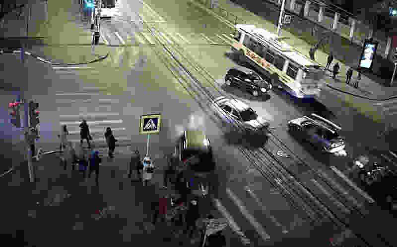 Видео страшной аварии в центре Тамбова появилось в Сети