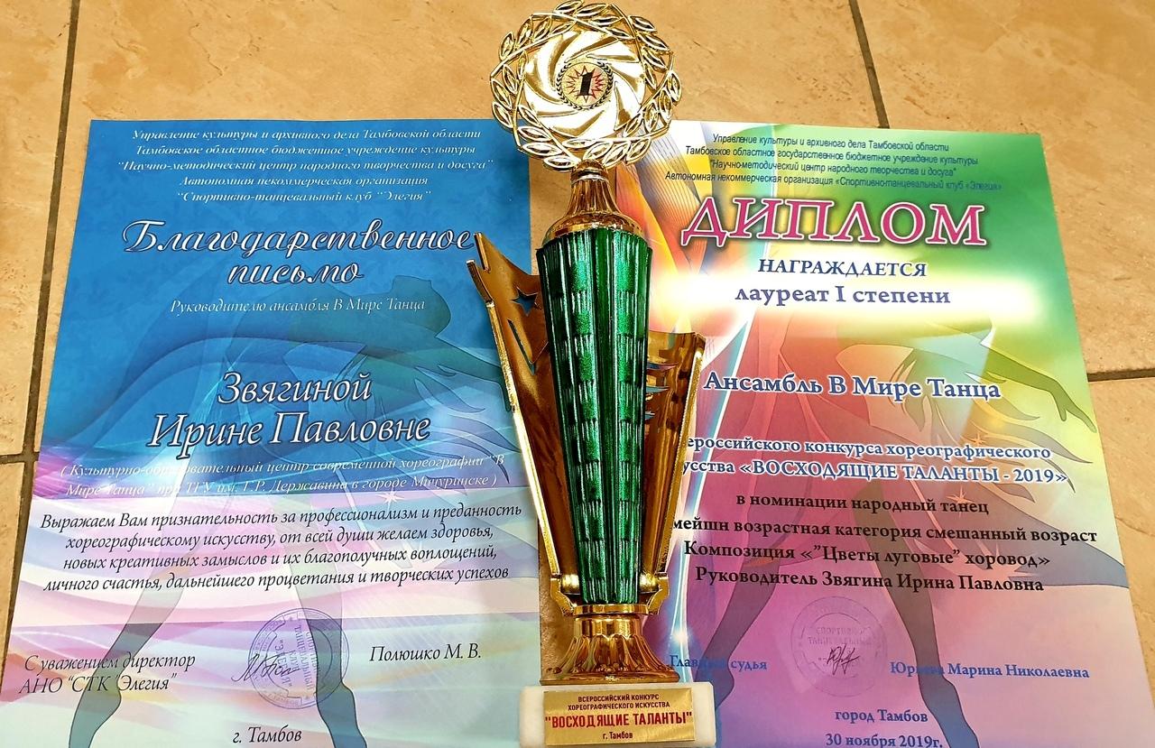 """Ансамбль """"В Мире Танца"""" стал призером Всероссийского конкурса хореографического искусства"""