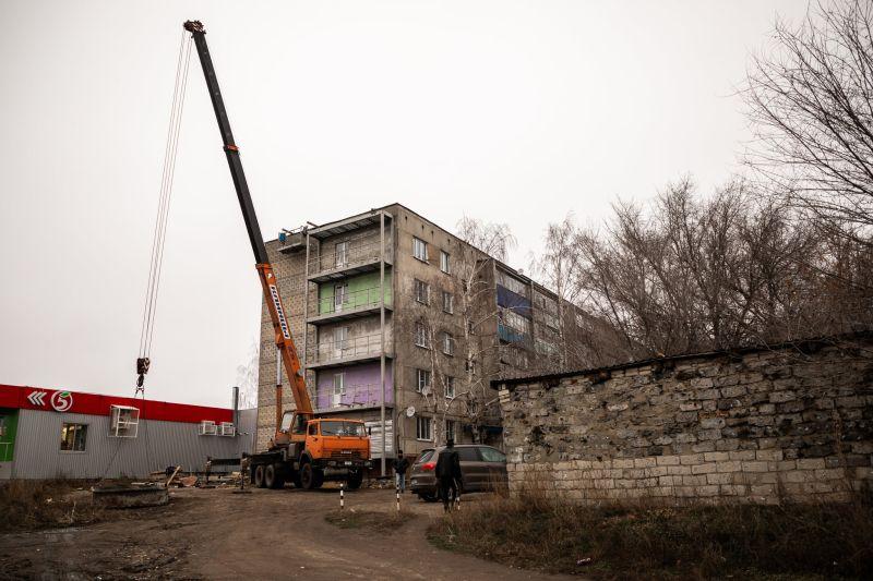 В многоэтажке под Тамбовом, где рухнули пять балконов, идут восстановительные работы