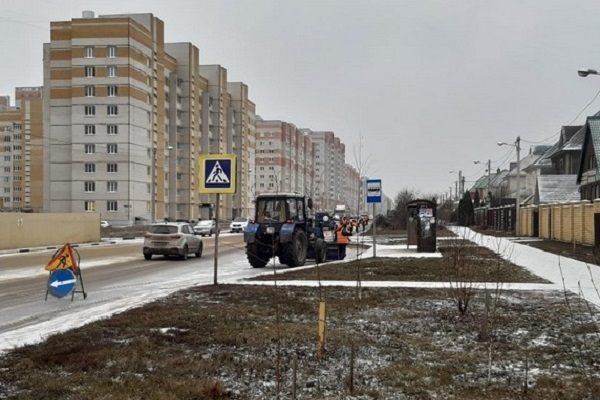 В Тамбове на уборку снега вышло более 50 единиц спецтехники