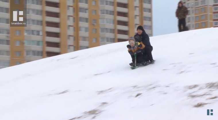Глава города запретила кататься с горки в Олимпийском парке на севере Тамбова