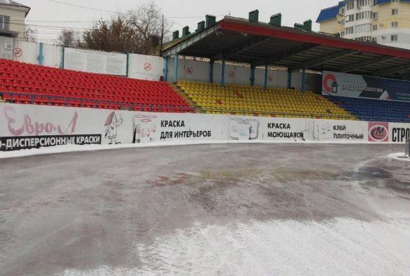 """Стадион """"Спартак"""" продолжают готовить к массовому катанию на коньках"""