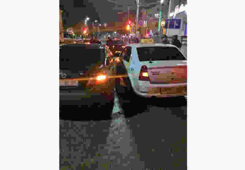 В Мичуринске иномарка врезалась в такси: есть пострадавшие