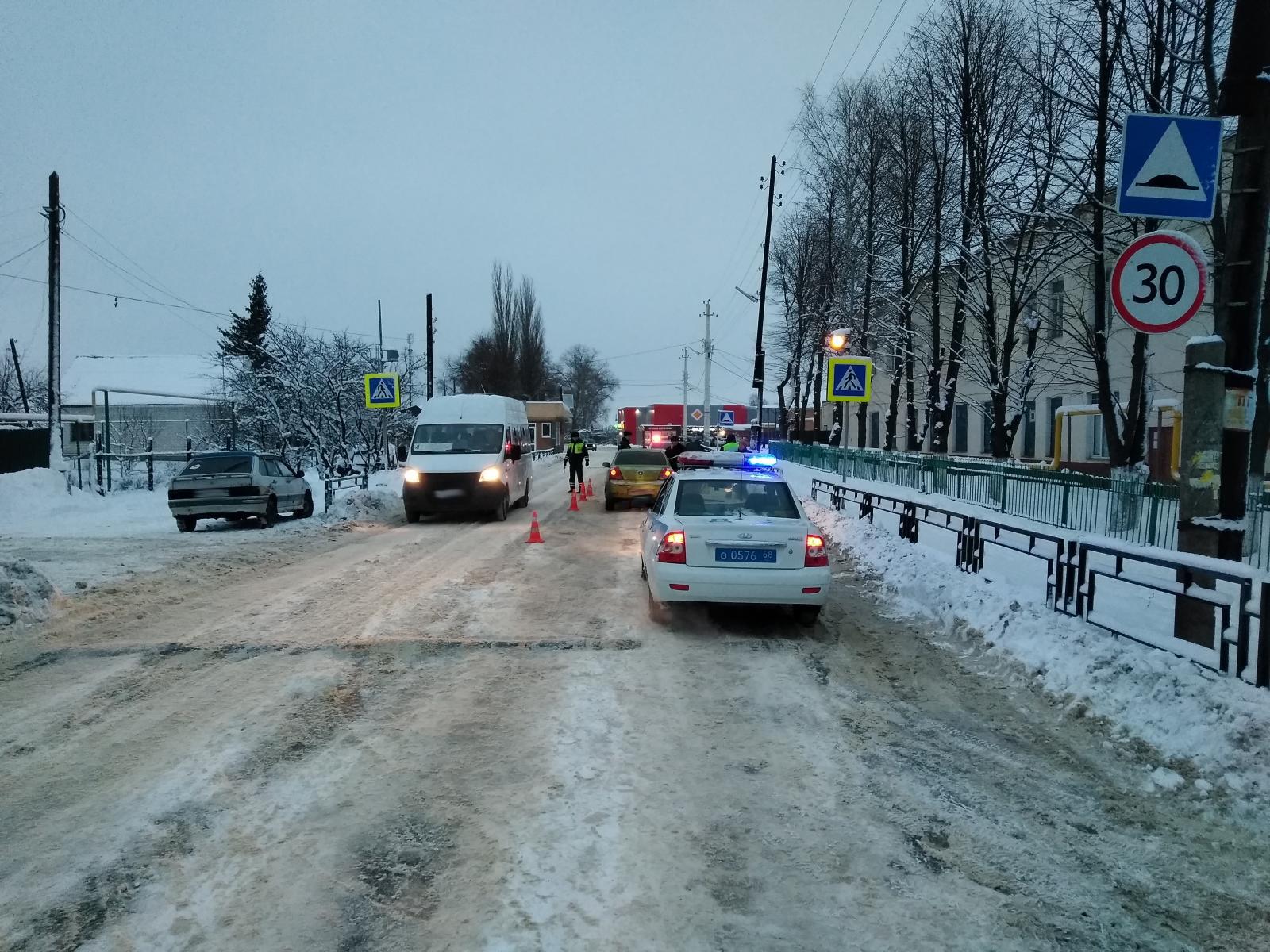 В Мичуринске водитель иномарки сбил женщину с двумя детьми