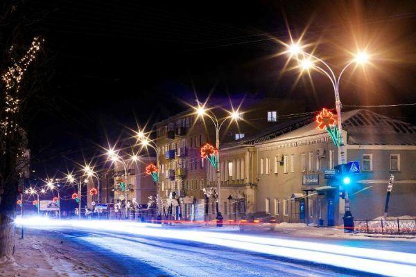 В Рассказово завершают работы по модернизации уличного освещения на улице Советской