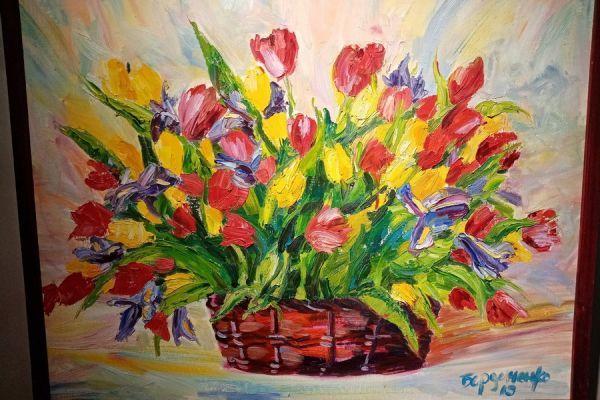 """На юбилейной выставке в """"Новой галерее"""" создали атмосферу весны"""