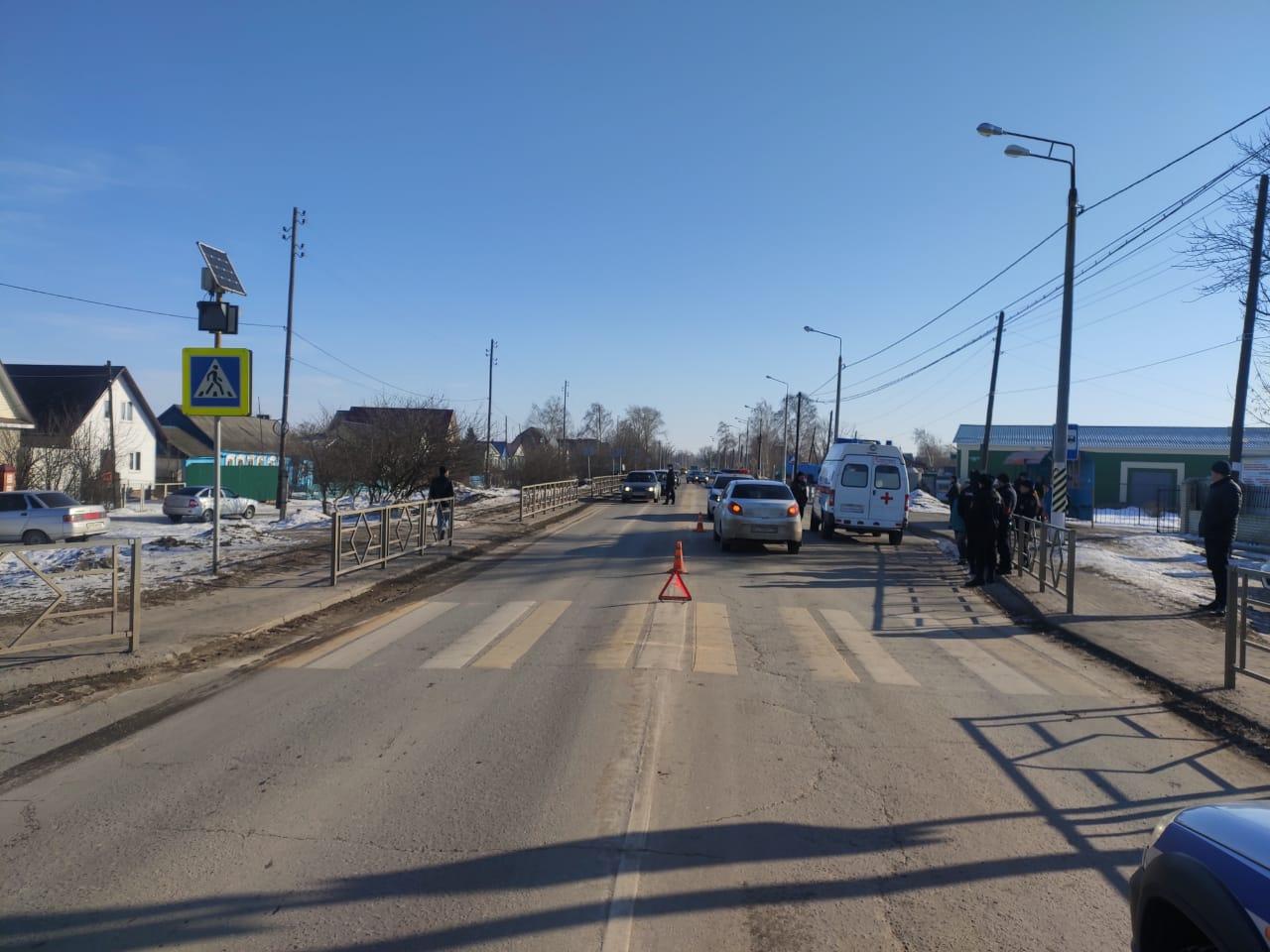 В Мичуринском районе водитель легковушки сбил на пешеходном переходе женщину