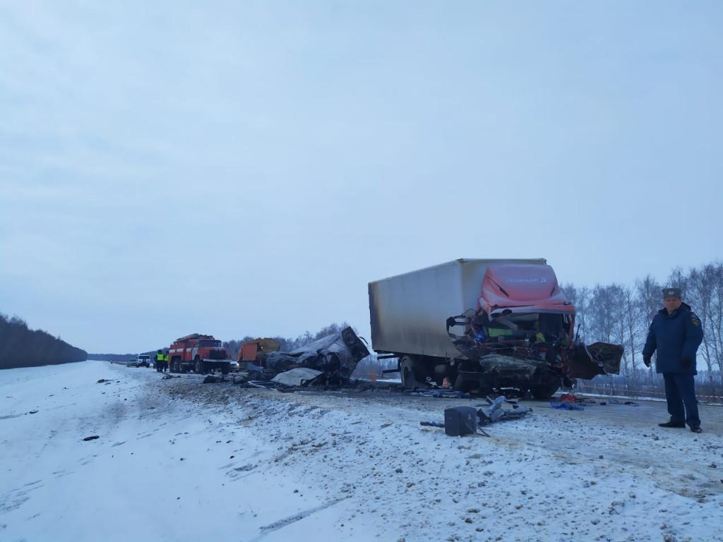 """В Тамбовской области при столкновении грузовика и """"ГАЗели"""" погибли пять человек"""