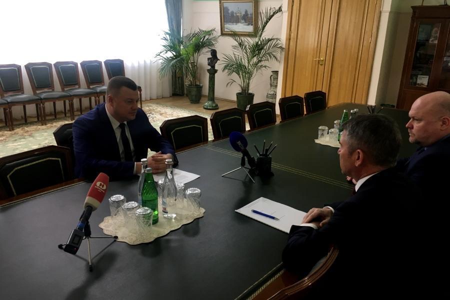 Губернатор Александр Никитин провел рабочую встречу с генеральным директором «Россети Центр» Игорем Маковским