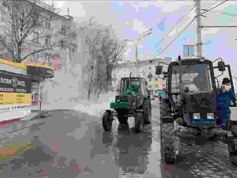 Из-за аварии в центре Тамбова 150 домов остались без тепла и горячей воды