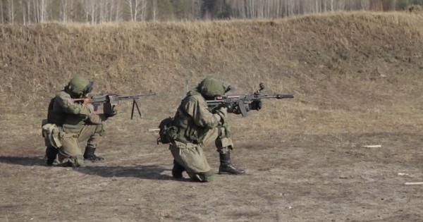 Стрельба изАК-74, ПКМ: кадры тренировки спецназа подТамбовом