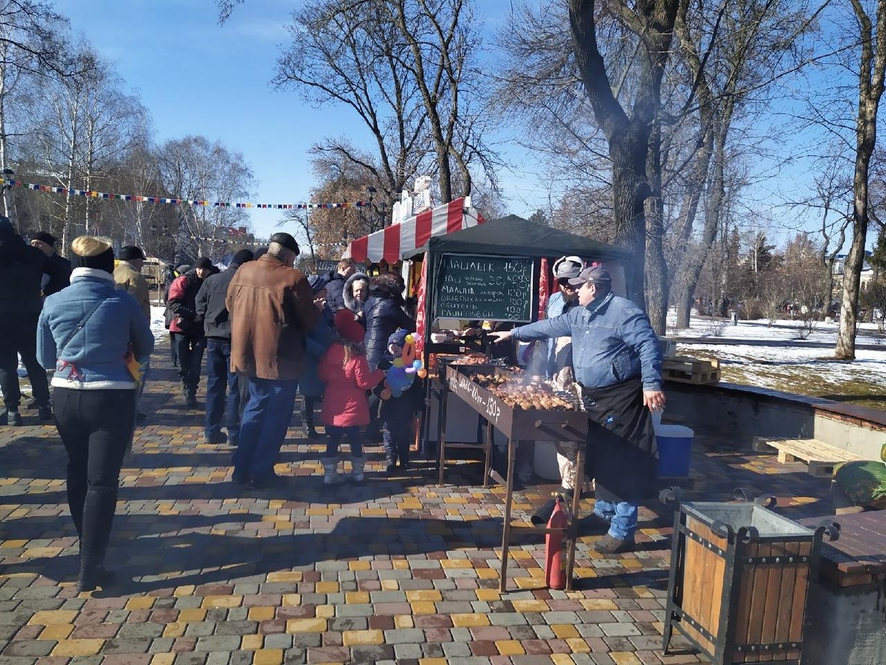 Тамбовчане провожают зиму в городском парке культуры и отдыха