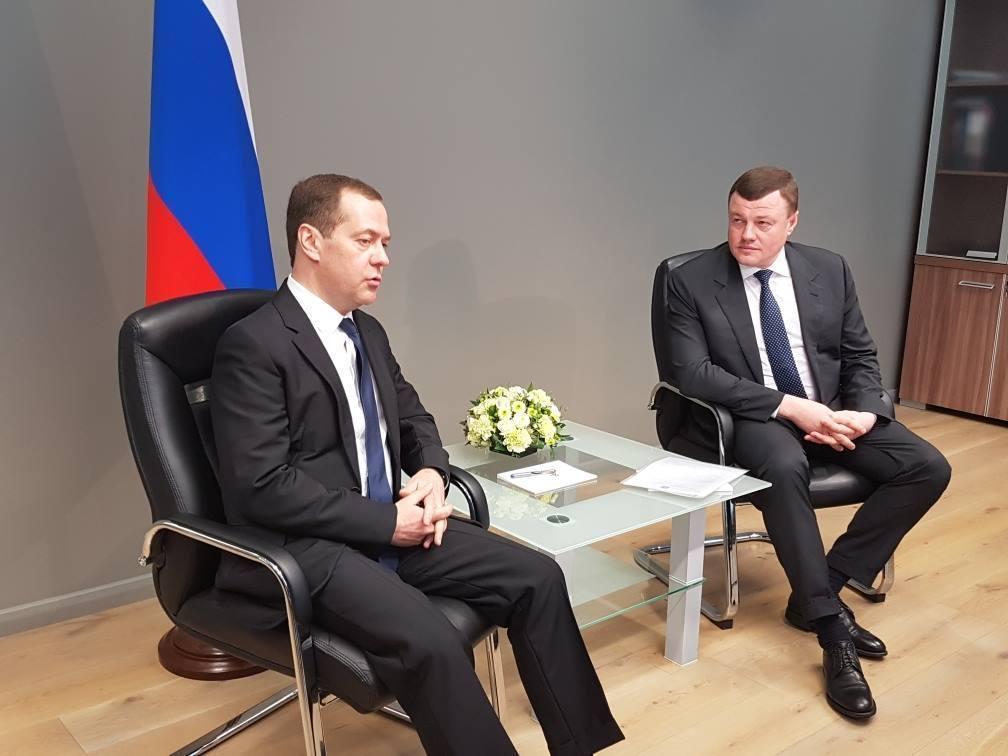 Губернатор Александр Никитин рассказал премьер-министру Дмитрию Медведеву о проекте благоустройства дворов