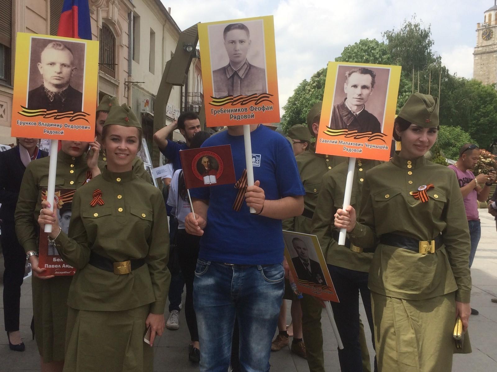 Около ста тамбовчан приняли участие в шествии «Бессмертного полка» за рубежом