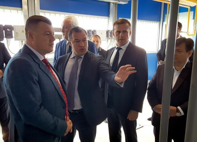 Губернатор Александр Никитин посетил новую котельную в Мичуринске