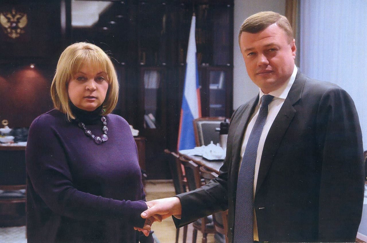 Губернатор Александр Никитин и председатель Центризбиркома Элла Памфилова  обсудили перспективы технической модернизации избирательного процесса в регионе