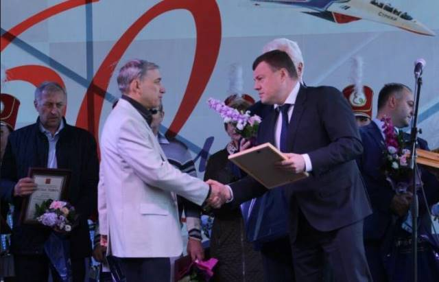 Губернатор Александр Никитин поздравил коллектив  мичуринского завода  « Прогресс» с юбилеем