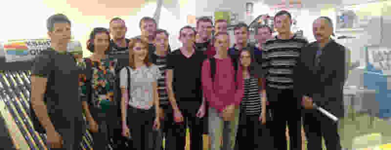 Выставочный центр «Энэфтика» посетили студенты Липецкого  государственного технического университета