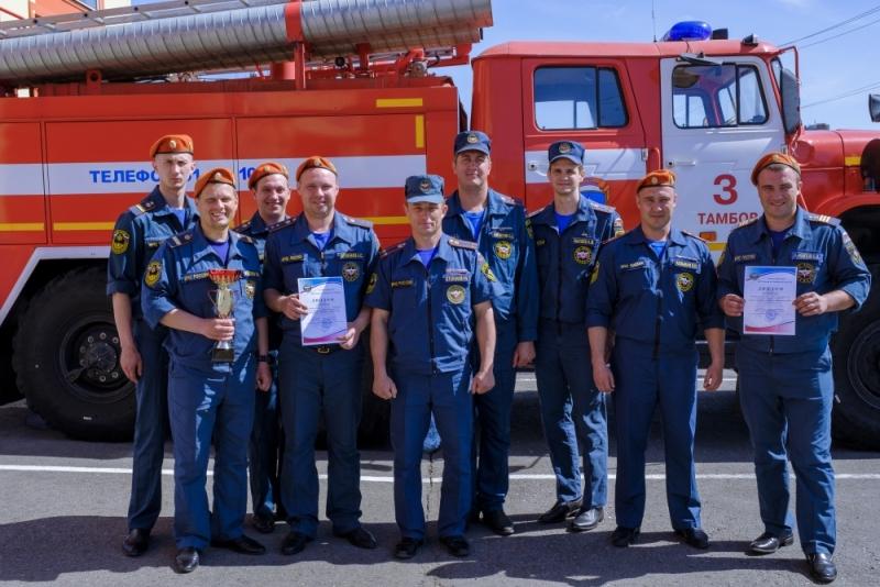 Команда из Котовска стала лучшей в соревнованиях по пожарно-прикладному спорту