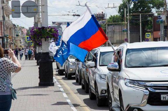 Участники автопробега на карте Тамбовской области нарисуют цветок